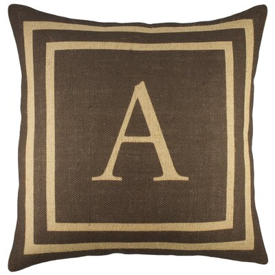 Monogram Burlap Throw Pillow