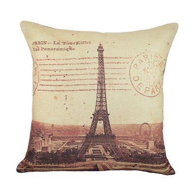 Eiffel Tower Cotton Throw Pillow