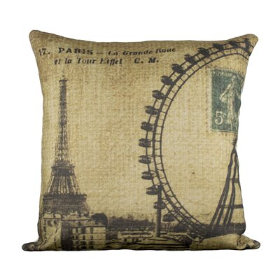 Grande Roue Cotton Throw Pillow