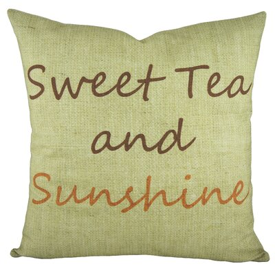 Sweet Tea and Sunshine Cotton Throw Pillow Color: Brown / Orange
