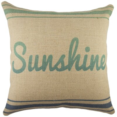 Sunshine Burlap Throw Pillow