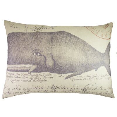 Whale Cotton Lumbar Pillow