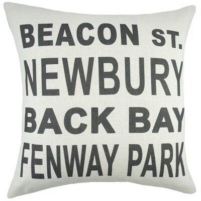 Boston Cotton Throw Pillow