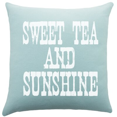 Sweet Tea and Sunshine Cotton Throw Pillow
