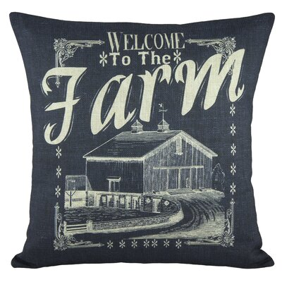 Welcome to the Farm Cotton Throw Pillow