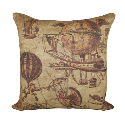Flying Machines Cotton Throw Pillow