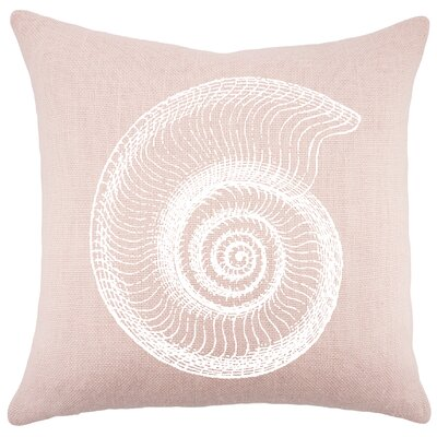 Seashell Burlap Throw Pillow Color: Pink