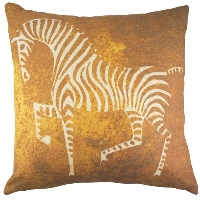 Zebra Cotton Throw Pillow Color: Copper