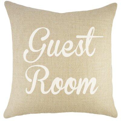 Guest Room Burlap Throw Pillow