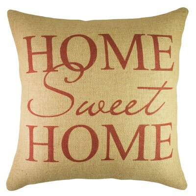 Home Sweet Home Burlap Throw Pillow