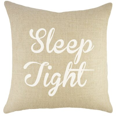 Sleep Tight Burlap Throw Pillow