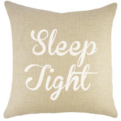 Sleep Tight Burlap Throw Pillow