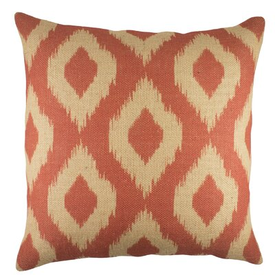 Ikat Pillow I Burlap Throw Pillow Color: Coral