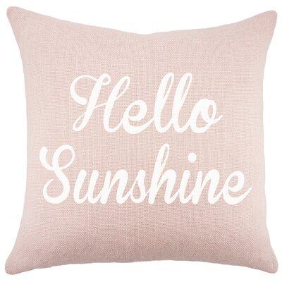 Hello Sunshine Burlap Throw Pillow