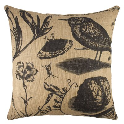 Specimen Burlap Throw Pillow