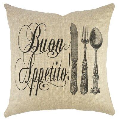 Buon Appetito Burlap Throw Pillow