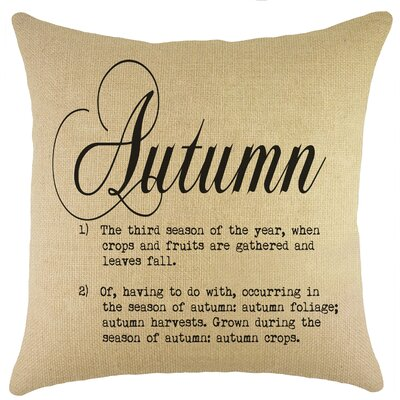 Autumn Burlap Throw Pillow Color: Black