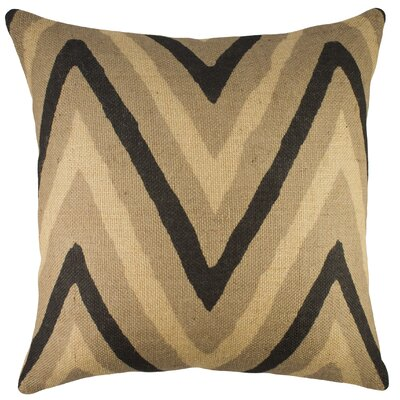 Chevron Burlap Throw Pillow