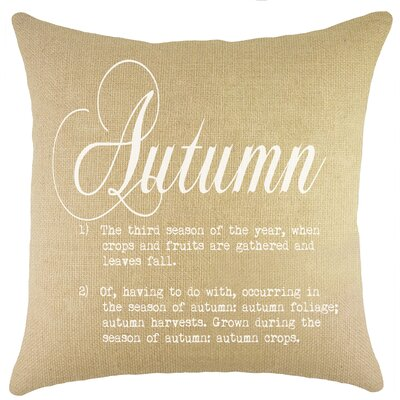 Autumn Burlap Throw Pillow Color: White