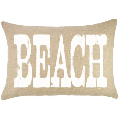 Beach Burlap Lumbar Pillow
