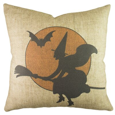 Witch with Moon Throw Pillow