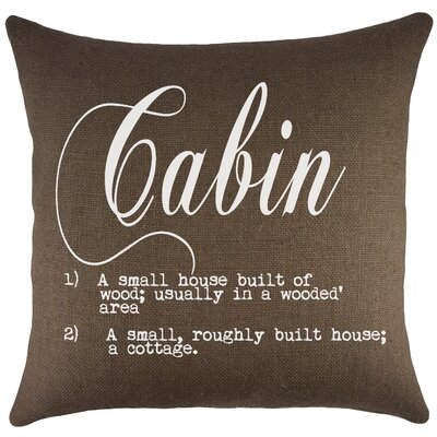 Cabin Burlap Throw Pillow Color: Brown
