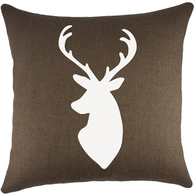 Deer Burlap Throw Pillow Color: Brown