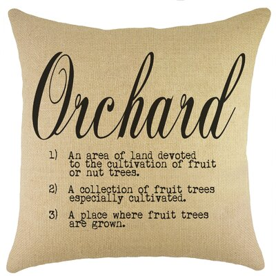 Orchard Burlap Throw Pillow Color: Black