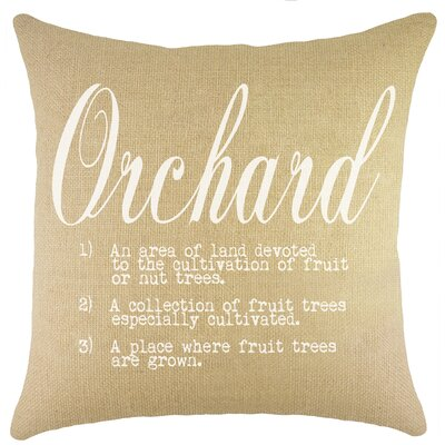 Orchard Burlap Throw Pillow Color: Natural