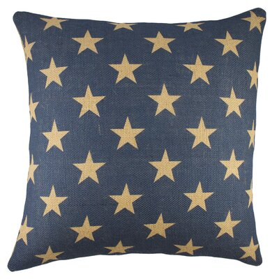 Stars Burlap Throw Pillow Color: Beige
