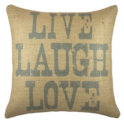 Live Laugh Love Burlap Throw Pillow