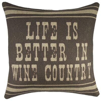 Wine Country Burlap Throw Pillow