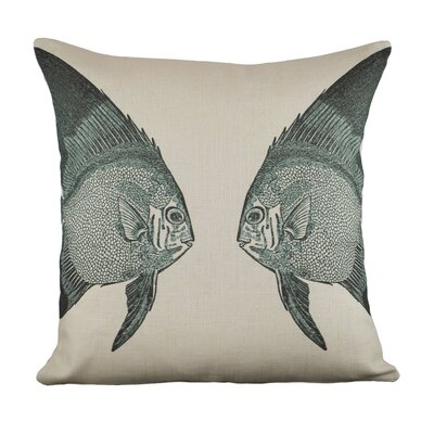 Staring Fish Cotton Throw Pillow