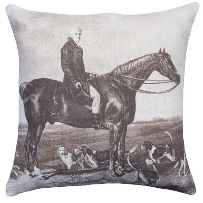 Horse Cotton Throw Pillow