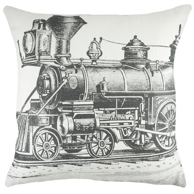 Train Cotton Throw Pillow