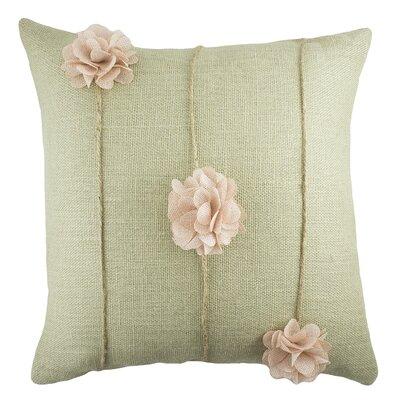 Floral Burlap Throw Pillow Color: Sage