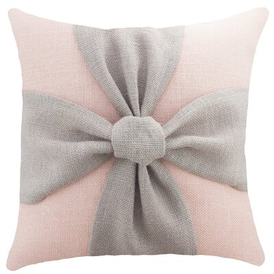 Bow Burlap Throw Pillow