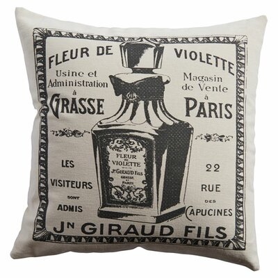 Violette Cotton Throw Pillow