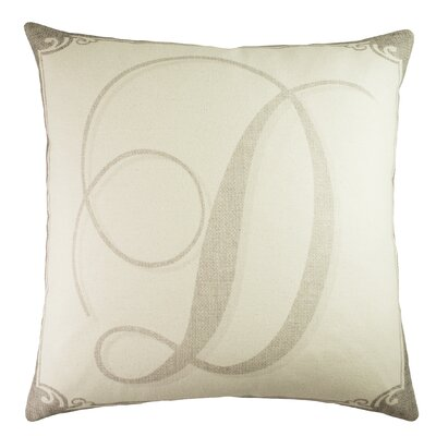 Monogram Personalized Cotton Throw Pillow Size: 22 H x 22 W x 6 D