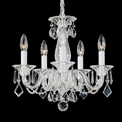 Allegro 5-Light Candle-Style Chandelier Crystal Color: Clear