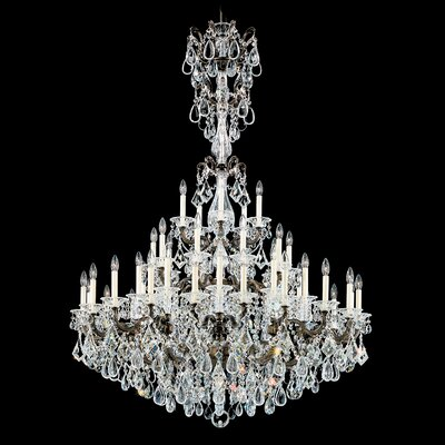 La Scala 45-Light Crystal Chandelier Finish: Parchment Gold, Crystal Type: Spectra Clear