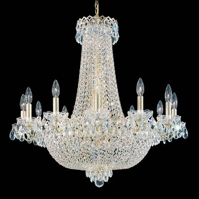 Camelot 24-Light Crystal Chandelier Finish: Polished Silver