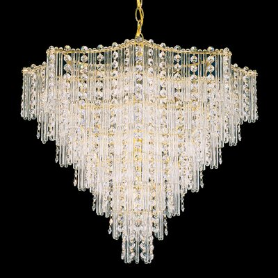 Jubilee 13-Light Crystal Chandelier Finish: Polished Silver