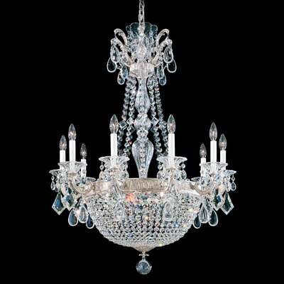 La Scala 15-Light Crystal Chandelier Finish: Midnight Gild, Crystal Type: Heritage Clear