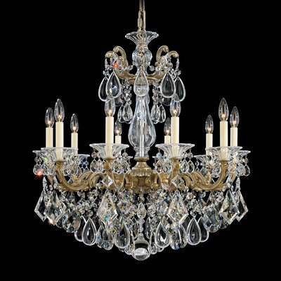 La Scala 10-Light Crystal Chandelier Finish: Florentine Bronze, Crystal Type: Swarovski Elements Clear
