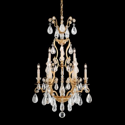Versailles Rock Crystal 9-Light Crystal Chandelier Finish: Etruscan Gold