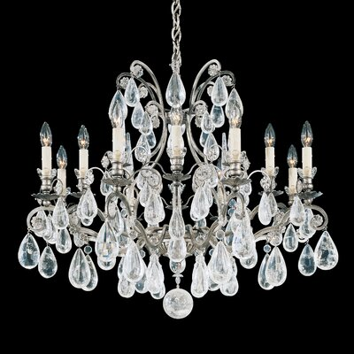 Versailles 12-Light Candle-Style Chandelier Finish: Antique Silver