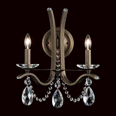 Vesca 12-Light Candle-Style Chandelier Finish: Antique Silver, Crystal Grade: Heritage