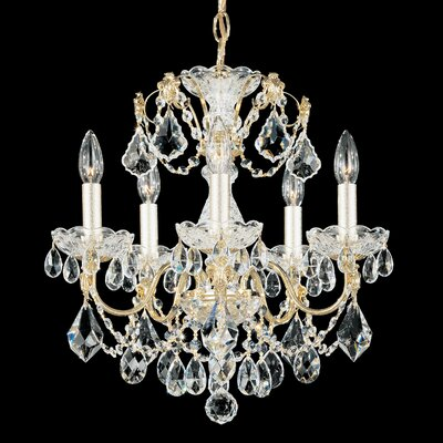 Century 5-Light Candle-Style Chandelier Finish: Aurelia