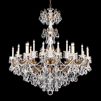 La Scala 27-Light Candle-Style Chandelier Finish: French Gold